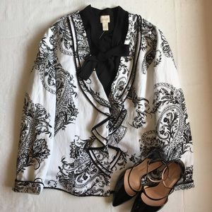 Chico's Jackets & Coats - Chico's • Black & White Printed Jacket